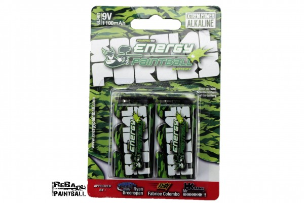 Energy Paintball 9V Batterien
